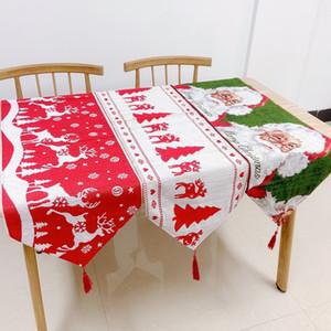 Weihnachtstischdecke Runner Flagge Weihnachtsmann Bankett Hauptdekoration gestickte Weihnachtstischdekoration Abdeckung Matte Tuch-Abdeckung AHA781