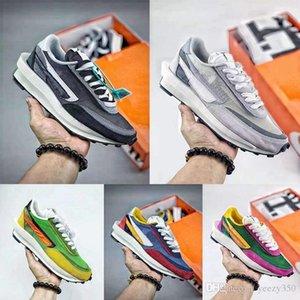 New Colors Sacai x LDV Waffle Pack Running Shoes Pine Green Summit White Triple Black Green Gusto Sacai Waffle Big Boys Girls Sneaker
