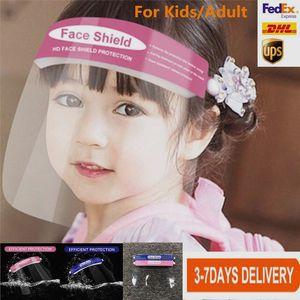 US Stock Protective Face Shield Kids Adult Clear Mask Children Anti-Fog Full Face Isolation Transparent Visor Protection Prevent Splashing