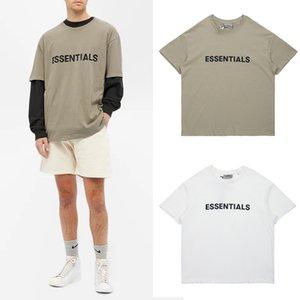 New FOG Medo de Deus Essentials SS20 Frente T-shirt do logotipo Casual Oversize Tee Harajuku Hip camisas do skate Hop T Homens Mulheres Streetwear