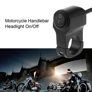 7 8in Scooter Motorcycle Handlebar Headlight On Off Switch 2-Wire with LED Light Waterproof Motorcycle Accessory New