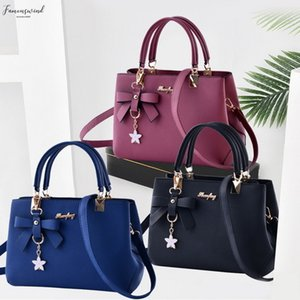 Puimentiua 2020 Fashion Shoulder Bag Women Designer Handbags Women Bags Plum Bow Sweet Messenger Crossbody Bag Plain For Women