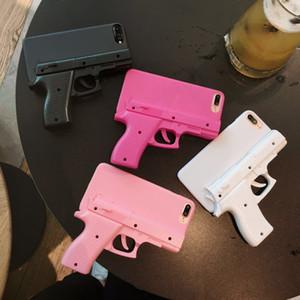 Qualité de luxe 3D Gun Forme en plastique dur Shell Téléphone Retour Etui pour iPhone 5s 6S 7 8 Plus X XR XS MAX 11Pistol jouet style PC antichocs