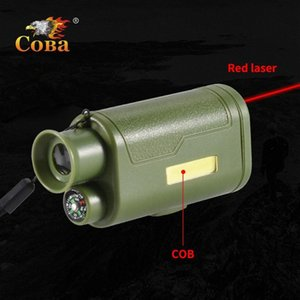 caccia portachiavi pannocchia luce principale lampada telescopio portatile infrarosso bussola plastica impermeabile 2 modalità 200LM mini emergenza luce iOfJ #