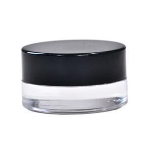 5ml small glass jars transparent dab wax glass jar custom tempered pyrex glass food warmer container with plastic lid