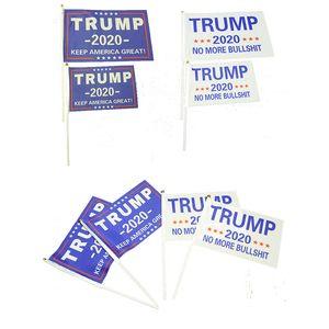 Customized Trump garden flag Trump election flag 14*21 20*30 30*45 Double Sided Printed 2020 campaign flag C1301