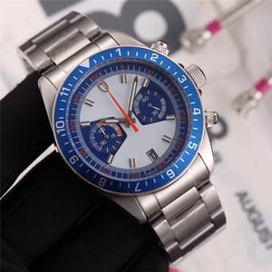 2020 hombres de alta calidad reloj de moda acero inoxidable todos los trabajos subdial cronógrafo herencia japón vk movimiento de cuarzo deporte reloj relojes