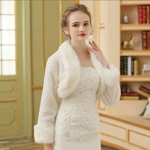 Bride shawl Winter 2019 Coat dress wedding dressnew fur collar white coat wedding cheongsam bridesmaid dress warm red