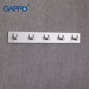Gappo Robe ganchos de acero inoxidable 5 ropa gancho engancha la Torre montaje Holder Baño de montaje en pared multifuncional suspensión de la toalla Brzk #