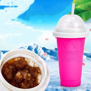 Milkshake Smoothie Slush Shake Maker Cup Creative Juice Cup Popsicle Mold Maker Slushy Ice Cream Tool Broken Ice Cup 3 Colors BH2263 CY