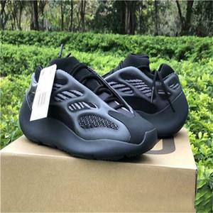 Nueva venta 700 V3 kanye west hombres de los zapatos corrientes 700V3 Azael Alvah blanca Esqueleto Negro brillan en la oscuridad zapatillas de deporte de las mujeres