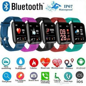 ID 116Plus Smart-Band-Armband bunten Schirm Fitness Tracker Pedometer Herzfrequenz-Blutdruck-Health Monitor D13 Smart-Bands Armband