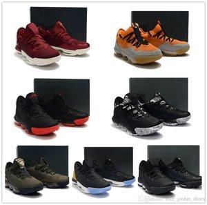 L16 Baja Banda sonora Safari CAMO Hombres Baloncesto zapatos de entrenamiento más calientes de los zapatos de deporte atlético J16 Negro color caqui para hombre del kumquat