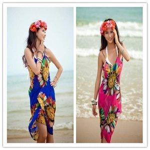 Women's bikini swimsuit blouse Beach dress bikini sunscreen sexy sling chiffon beach dress scarf changeless scarf