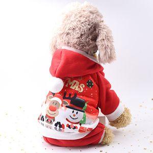 Christmas Pet Dress 6 Size Elk Santa Puppy Suit Classic Euramerican Pet Dog Christmas Clothes Pets Apparel Wholesale DH0319