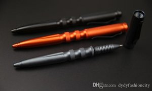 Taktik Kalem Fonksiyonlu Alüminyum Alaşım Taktik Öz Savunma Aracı Güvenlik Koruma Kişisel Tungsten Çelik Anti-skid Pen Malzemeleri
