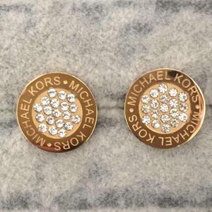 Non Faded Bijoux de luxe Design Classique Femmes Hommes Boucles d'oreilles Hip Hop Boucles Earings Glacé Bling Punk Rock Round cadeau de mariage