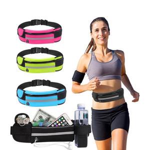 1PC Unisex Sports Running Cycling Jogging Earphone Waist Belt Pack Bag Pouch Pocket Bottle Running Waist Belt Bag Phone Waistbag