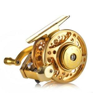 Рыбалка Катушка Металл Стрит Sealed Коробки передач Алюминиевого Fly Fishing Reel 3,0: 1 4 + 1BB KF60 Hight Speed Fishing Reel Saltwater