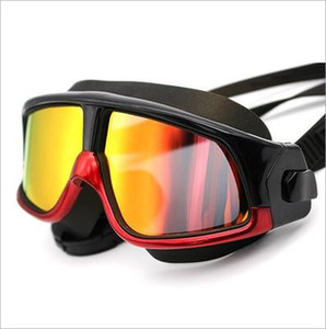 1Pc Swimming Goggles Electroplate Goggles Silica Gel Frame Swim Antifogging Glasses Head-mounted