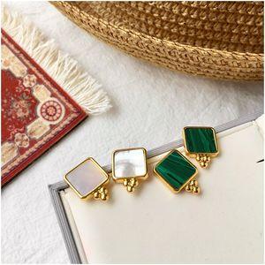 New Bohemian Style Geometric Square Gold Earrings for Women Fashion Irregular Stud Earring Bohemian Jewelry for Women