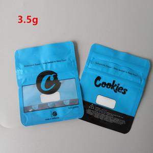 Cookies sf 8th 3.5g 28g 7g 3.5g azuis biscoitos zíper cheirar sacos à prova de embalagens de embalagem de embalagem de embalagem de ervas secas