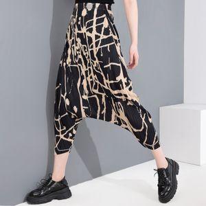 [LANMREM] 2020 New Spring Summer High Waist Pocket Stitch Loose Pants Women Jumpsuit Fashion Tide Harent Trousers YJ16701