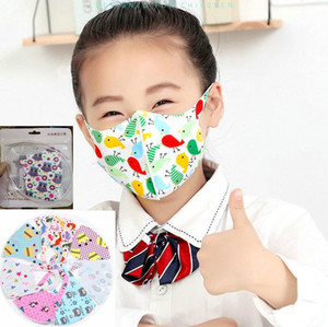 kids 4-12Y Fast Ship Designer face mask ice silk protective Reusable washable children cartoon Cotton masks in stock top sale