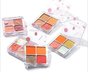 Earth color eye shadow combination 4 color eye shadow matte pearl glitter powder highlight 4 color eye shadow tray