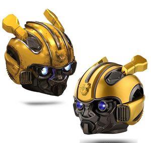 Bumblebee Helm drahtloser Bluetooth-Mini-Lautsprecher portable Stereo-Lautsprecher für FM Radio USB-MP3-TF Smart-Subwoofer wphome ezbgu