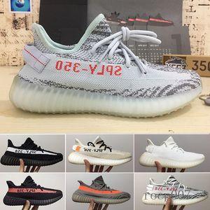 (With Box) 2019 New Men Women Running Shoes Static Black Bred Cream White Sesame Kanye West V2 Sports Sneakers eur 36-46 QYT6R