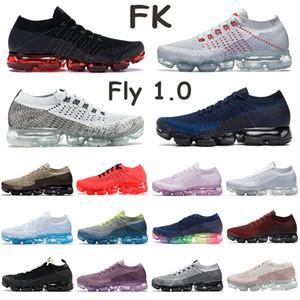 FK 1.0 True Mens Örme Oreo Midnight Navy Bred Dize Pas Pembe Üçlü Siyah Beyaz İçin Ayakkabı koştu, Saf Platin Eğitmenler