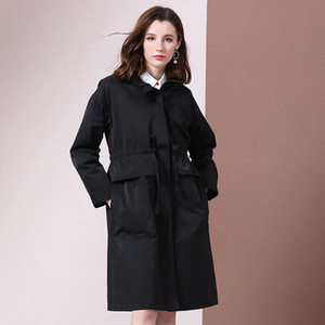 Shetelisi Femmes Long Trench avec Sash Mode Automne manteau de la rue Casual pour les dames élégantes st19037 mc3G #