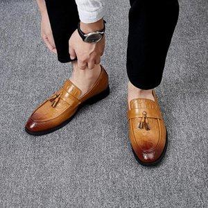 2020 Autumn tide shoes men's new cross-border large size men's shoes Korean version of the British set of feet crocodile pattern asdsa