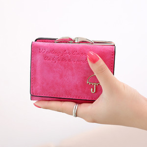 2020 novo popular carteira, pequena bolsa da mulher, guarda-chuva geada cartoon cartão decorativo saco de moda venda quente