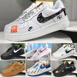 New WHITE x 1 Low Forces MCA University Blue Mens Running Shoes Sports fashion Designers Sneakers air one des chaussures off shoes S1W8F