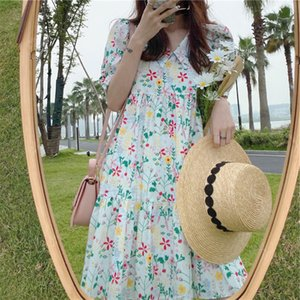 Age-reducing sweet dress salt Platycodon grandiflorum French Hepburn style first love floral sweet dress children summer 2020 New