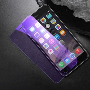 Eyeshield Phone Screen Protector for iPhone 7 Plus 8 Plus Eye-Protection Full Screen Purple Reinforced Glass Film for iPhone 11 Pro Max