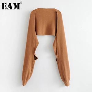 [EAM] Femmes Brief tricot multicolore noir de maintien au chaud écharpe Nouvelle longue personnalité Mode Tide Automne Hiver 2020 JD5620 CX200728