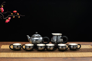 Pure sterling silver teapot sterling silver tea cup set sterling silver 999 teapot fair cup tea cup combination