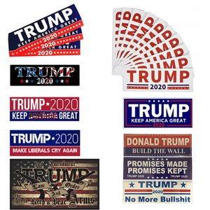10 Styles Donald Trump 2020 Car Stickers 7.6*22.9cm Bumper wall Sticker Keep Make America Great Decal for Car Styling Vehicle Paster DHL