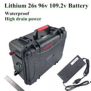 batteria 20Ah Li-ione di capacità elevata 96v 35A BMS per EV energia inverter 109.2v alimentazione ebike motorino caricatore 3000W + 5A