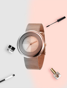 Rose Gold Unique dial BRACELET WOMEN wrist watch women 2020 new fashion dress quartz watch women