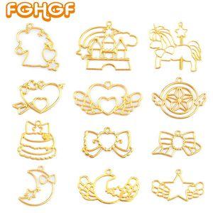 12 pcs mix style Resin Craft Supplies Open Bezel Pendant Key Lovely Magic Stick Shape DIY UV Resin Jewelry Accessory Tool