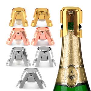 3 couleurs Bouteille en acier inoxydable Bouchon silicone vin Champagne Stoppers Creative Style de vin Bouche gratuite DHL DHB908