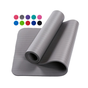 Горячий продавать 10 ~ 20 мм Толстый Extra High Density Anti-Tear Упражнение баланс NBR Yoga Mat с Ремень для переноски