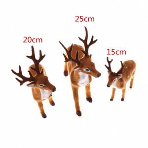Реквизит Рождество Элк Плюшевые Моделирование Олени Natale Новогоднее украшение Merry Deer Scene Композиция kLdV #