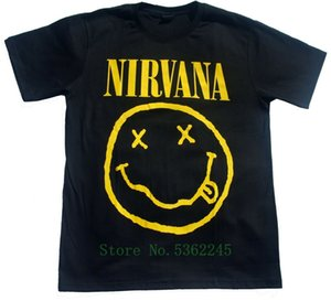 Short Sleeve T Shirt Nirvana Size 2x-Large Band Shirt Music Face Latest T-Shirt Man T Shirt Homme Loose Tshirt Men 2019 Outfit