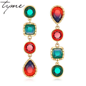 TYME 2017 Earrings Fashiom Jewelry Vintage Crystal Long Earrings Women jewelry For Party And Gift boucles d'oreille spendientes