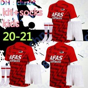 20 21 AZ Alkmaar niños jersey de fútbol kit + calcetines PRINCIPAL 2020 2021 DE WIT Stengs Boadu camiseta de fútbol AZ Alkmaar camiseta de Fútbol maillot